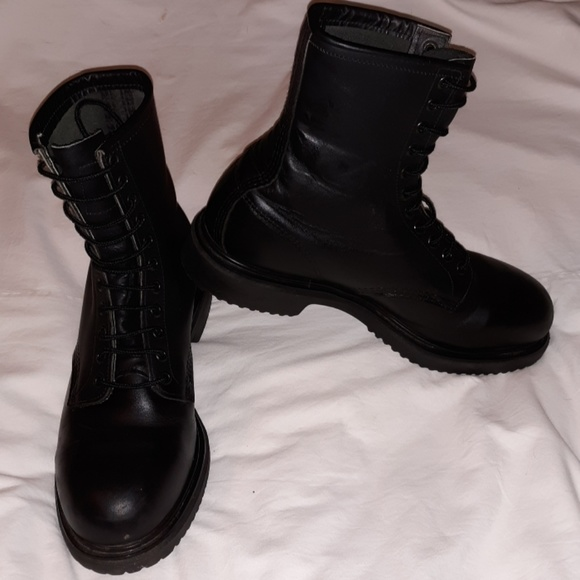 finest selection 24a60 8916b Red Wing Steel Toed Combat Boots Black Leather 10